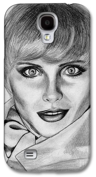 Kim Drawings Galaxy S4 Cases - Kim Alexis in 1985 Galaxy S4 Case by J McCombie
