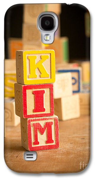 Kim Photographs Galaxy S4 Cases - KIM - Alphabet Blocks Galaxy S4 Case by Edward Fielding