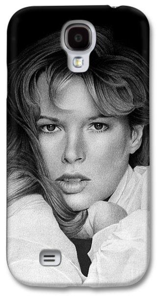 Kim Drawings Galaxy S4 Cases - Kim Basinger Galaxy S4 Case by Miro Gradinscak