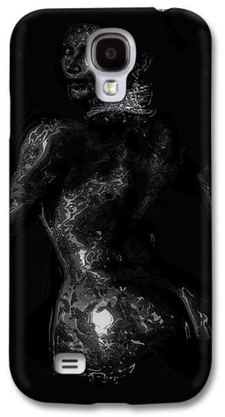 Kim Digital Art Galaxy S4 Cases - Kim Kardashian 1 Galaxy S4 Case by Brian Reaves
