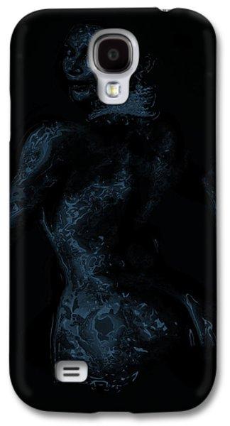 Kim Digital Art Galaxy S4 Cases - Kim Kardashian 1a Galaxy S4 Case by Brian Reaves