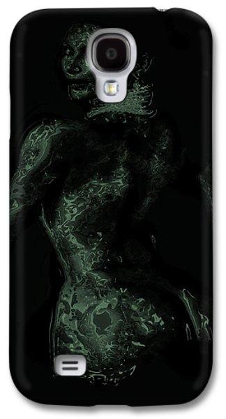 Kim Digital Art Galaxy S4 Cases - Kim Kardashian 1b Galaxy S4 Case by Brian Reaves