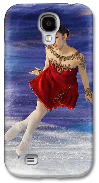 Kim Digital Art Galaxy S4 Cases - Yuna Kim performs during her farewell ice show  Galaxy S4 Case by Don Kuing