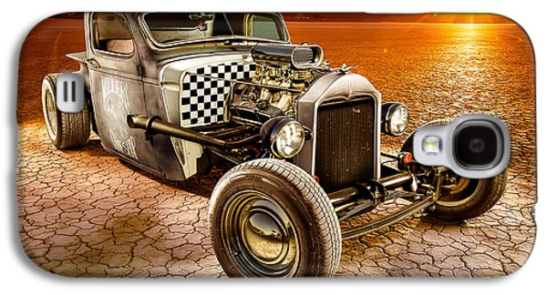Rusted Cars Galaxy S4 Cases - Millers Chop Shop 1946 Chevy Truck Galaxy S4 Case by Yo Pedro