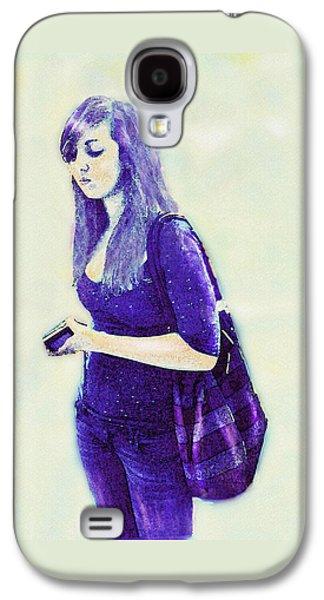 Bipolar Galaxy S4 Cases - Kind Of Blue Galaxy S4 Case by Jane Schnetlage
