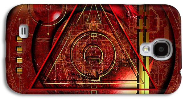 Abstract Digital Mixed Media Galaxy S4 Cases - King Crimson Galaxy S4 Case by Franziskus Pfleghart