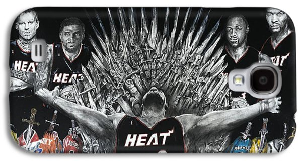 Dwyane Wade Galaxy S4 Cases - King James And His Court Galaxy S4 Case by S G Williams