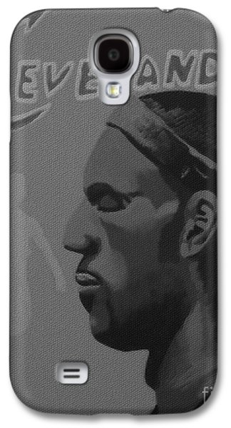 Lebron Mixed Media Galaxy S4 Cases - King James Galaxy S4 Case by Josh Miller