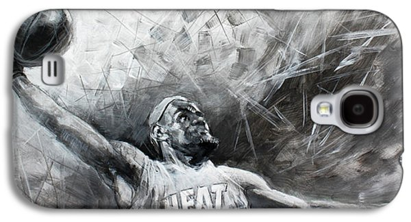 Nba Paintings Galaxy S4 Cases - King James LeBron Galaxy S4 Case by Ylli Haruni
