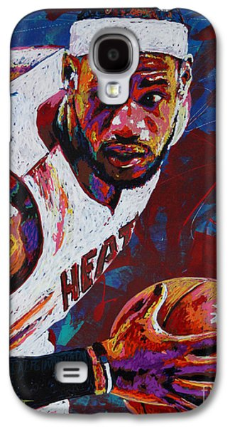 Nba Paintings Galaxy S4 Cases - King James Galaxy S4 Case by Maria Arango