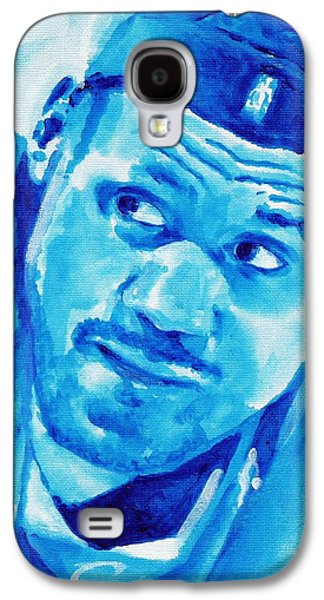 Lebron Paintings Galaxy S4 Cases - King James Galaxy S4 Case by Paul Smutylo