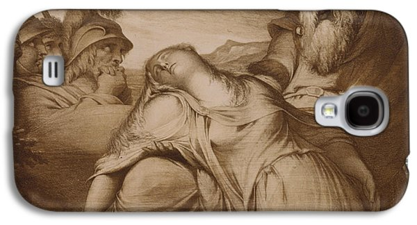Weeping Drawings Galaxy S4 Cases - King Lear and Cordelia Galaxy S4 Case by James Barry