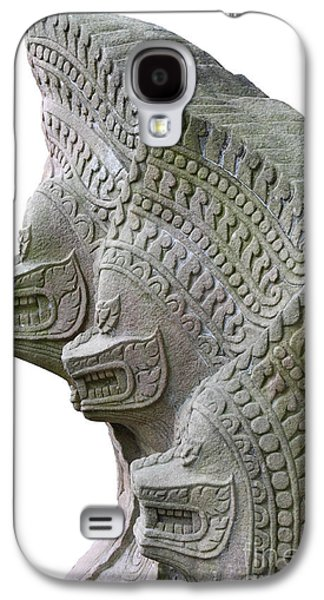 Ancient Sculptures Galaxy S4 Cases - King Of Snake Galaxy S4 Case by Pakorn Kitpaiboolwat