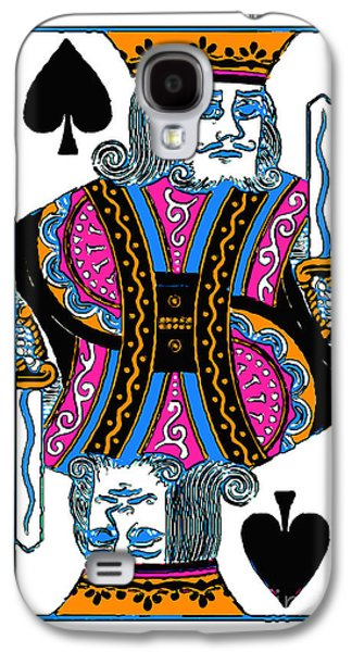 Wing Chee Tong Galaxy S4 Cases - King of Spades - v3 Galaxy S4 Case by Wingsdomain Art and Photography
