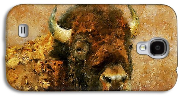 Recently Sold -  - Bison Digital Art Galaxy S4 Cases - King of the Plains Galaxy S4 Case by Roger D Hale