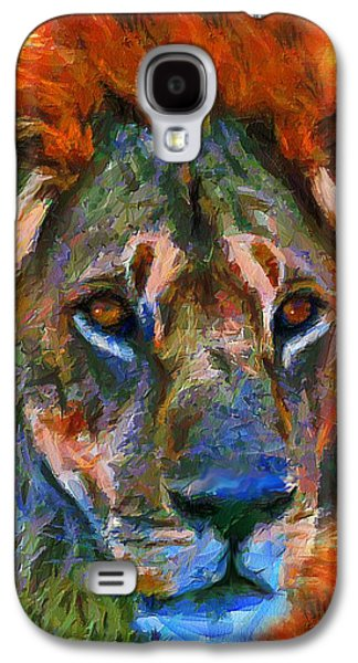 Abstract Digital Mixed Media Galaxy S4 Cases - King Of The Wilderness Galaxy S4 Case by Georgiana Romanovna