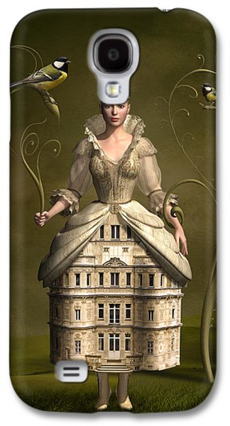Mystical Landscape Mixed Media Galaxy S4 Cases - Kingdom of her own Galaxy S4 Case by Britta Glodde