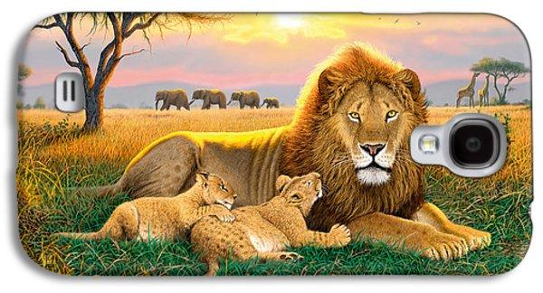 Sun Galaxy S4 Cases - Kings Of The Serengeti Galaxy S4 Case by Chris Heitt