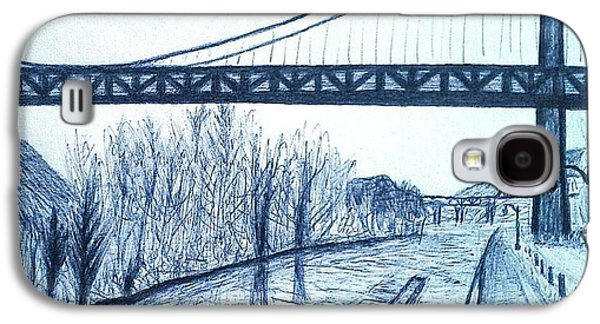 Suspension Drawings Galaxy S4 Cases - Kingston - Port Ewen Bridge 2 Galaxy S4 Case by Jason Page