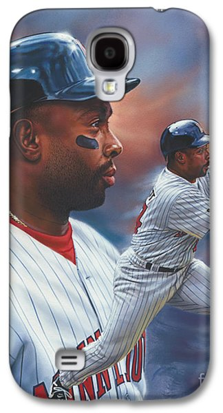 Hall Of Fame Galaxy S4 Cases - Kirby Puckett Minnesota Twins Galaxy S4 Case by Dick Bobnick