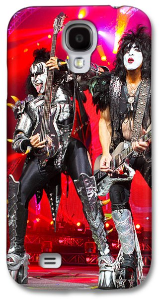 Metal Photographs Galaxy S4 Cases - KISS - 40th Anniversary Tour Live - Simmons and Stanley Galaxy S4 Case by Epic Rights