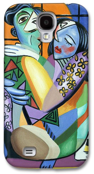 Green Framed Prints Digital Art Galaxy S4 Cases - Kiss Me Galaxy S4 Case by Anthony Falbo