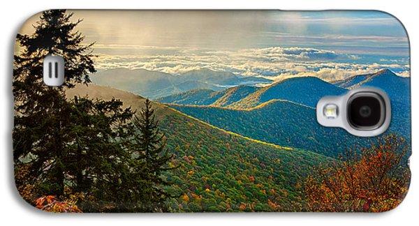 Best Sellers -  - Original Photographs Galaxy S4 Cases - Kiss of Sunshine - Blue Ridge Mountains I Galaxy S4 Case by Dan Carmichael