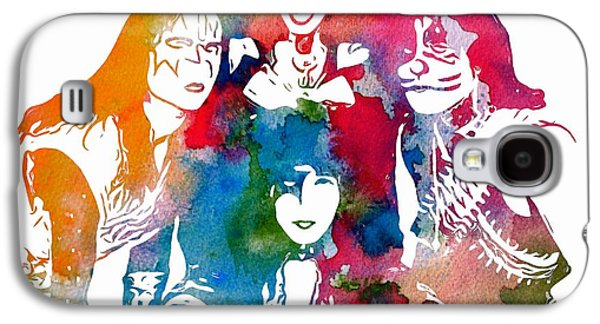 Pyrotechnics Galaxy S4 Cases - Kiss Watercolor Pop Art Galaxy S4 Case by Dan Sproul