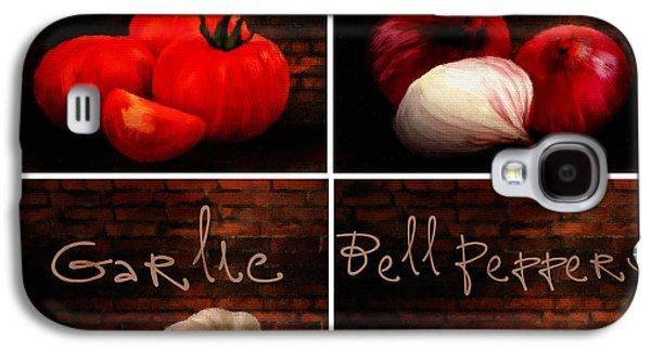 Kitchen Ingredients Collage II Galaxy S4 Case by Lourry Legarde
