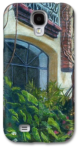 Window Pastels Galaxy S4 Cases - Kitchen Window Galaxy S4 Case by Blynn Pippen