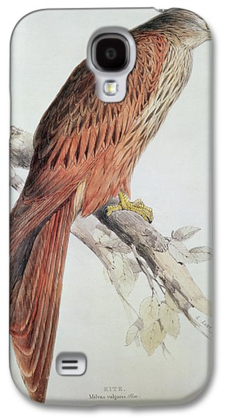 Talons Paintings Galaxy S4 Cases - Kite Galaxy S4 Case by Edward Lear