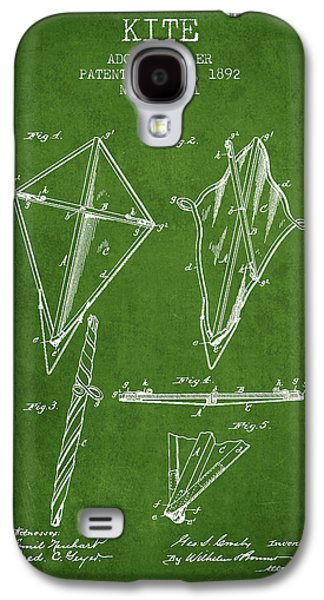 Kite Galaxy S4 Cases - Kite Patent from 1892 - Green Galaxy S4 Case by Aged Pixel
