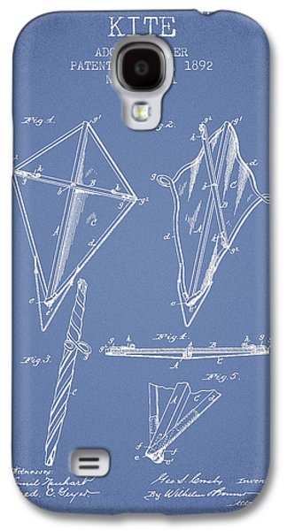 Kite Galaxy S4 Cases - Kite Patent from 1892 - Light Blue Galaxy S4 Case by Aged Pixel