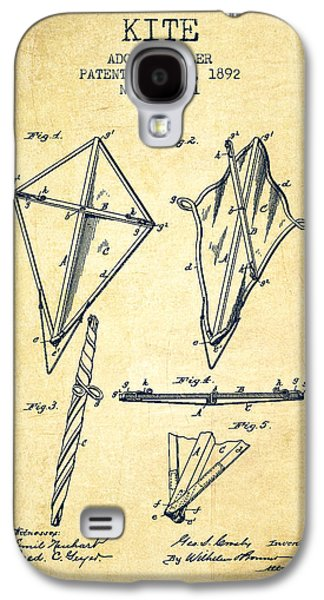 Kite Galaxy S4 Cases - Kite Patent from 1892 - Vintage Galaxy S4 Case by Aged Pixel