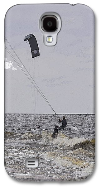 Kiteboarding Galaxy S4 Cases - Kite surfer Galaxy S4 Case by Patricia Hofmeester