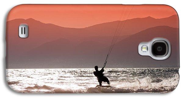 Kiteboarding Galaxy S4 Cases - Kite surfing Galaxy S4 Case by Gabriela Insuratelu