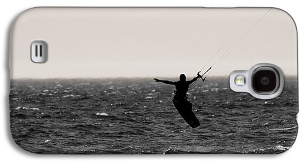 Kite Surfing Galaxy S4 Cases - Kite Surfing Pose Galaxy S4 Case by Dan Sproul