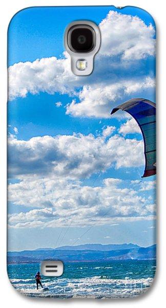 Kiteboarding Galaxy S4 Cases - Kitesurfer Galaxy S4 Case by Antony McAulay