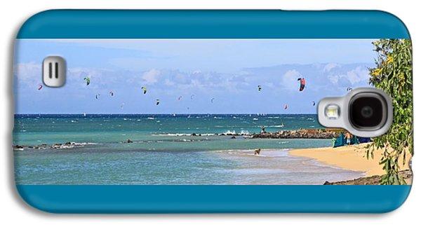 Kiteboarding Galaxy S4 Cases - KiteSurfin Kanaha Beach Galaxy S4 Case by DJ Florek