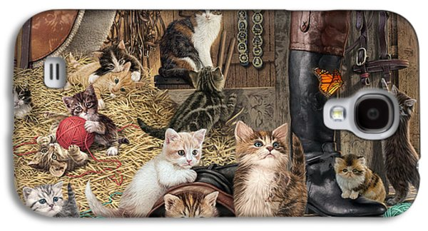 Sheds Galaxy S4 Cases - Kitten Capers Galaxy S4 Case by Steve Read
