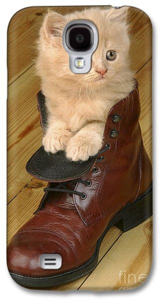 Greg Cuddiford Digital Art Galaxy S4 Cases - Kitten in Shoe CK181 Galaxy S4 Case by Greg Cuddiford