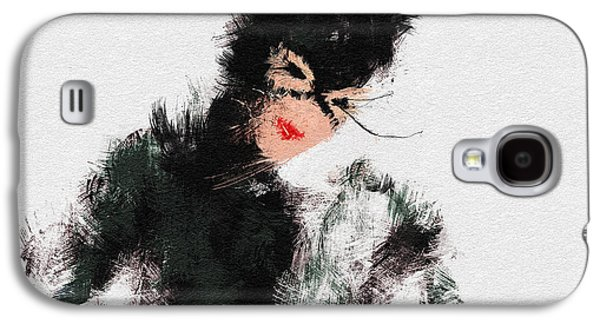 Icons Prints Paintings Galaxy S4 Cases - Kitty Galaxy S4 Case by Miranda Sether