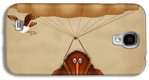 Kiwi Bird Kev Parachuting Galaxy S4 Case by Marlene Watson