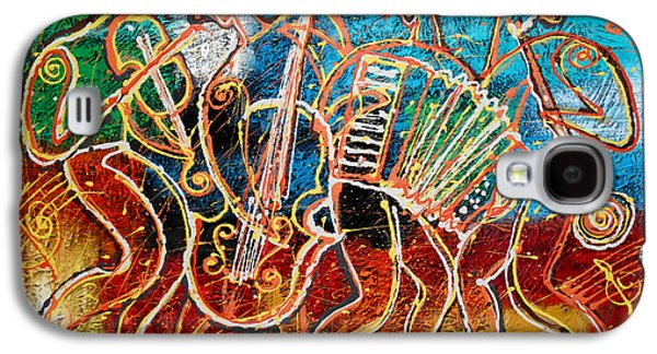 Piano Paintings Galaxy S4 Cases - Klezmer Music Band Galaxy S4 Case by Leon Zernitsky
