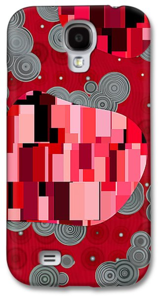 Red Abstracts Digital Galaxy S4 Cases - Klimtolli - 07rd01 Galaxy S4 Case by Variance Collections
