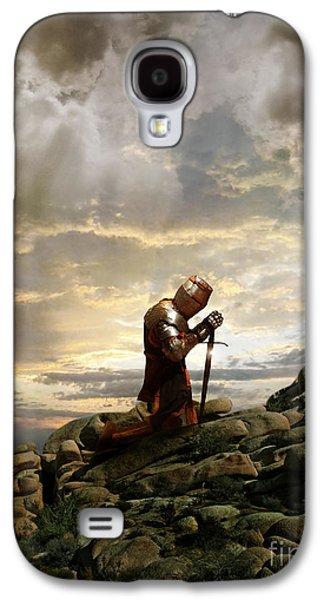 Knight Photographs Galaxy S4 Cases - Kneeling Knight Galaxy S4 Case by Jill Battaglia