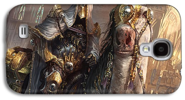 Horses Digital Galaxy S4 Cases - Knight of Obligation Galaxy S4 Case by Ryan Barger