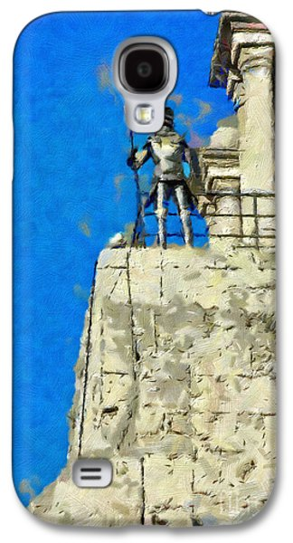 Knights Castle Paintings Galaxy S4 Cases - Knight on the tower painting Galaxy S4 Case by Magomed Magomedagaev