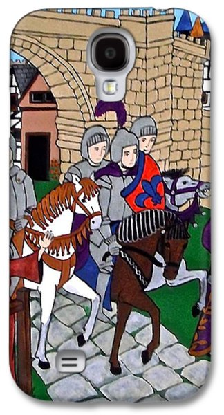 Knights Castle Paintings Galaxy S4 Cases - Knights Galaxy S4 Case by Stephanie Moore