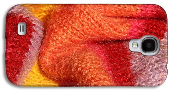 Colorful Abstract Tapestries - Textiles Galaxy S4 Cases - Knitted textile Galaxy S4 Case by Kerstin Ivarsson